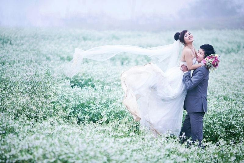 chụp ảnh cưới ở đồng cải mộc châu