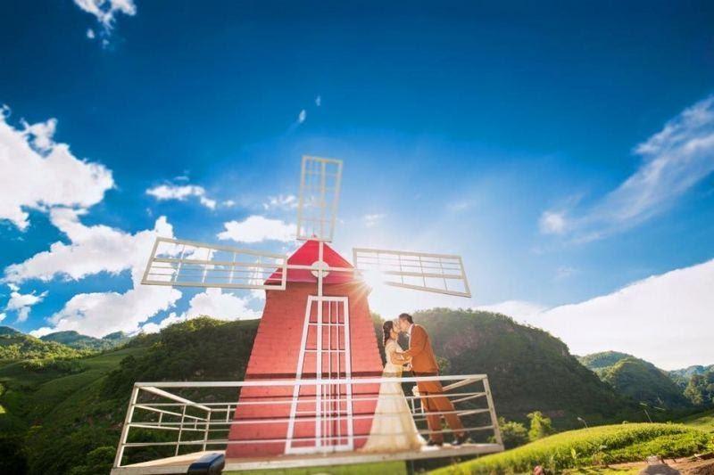 chụp ảnh cưới ở happy land