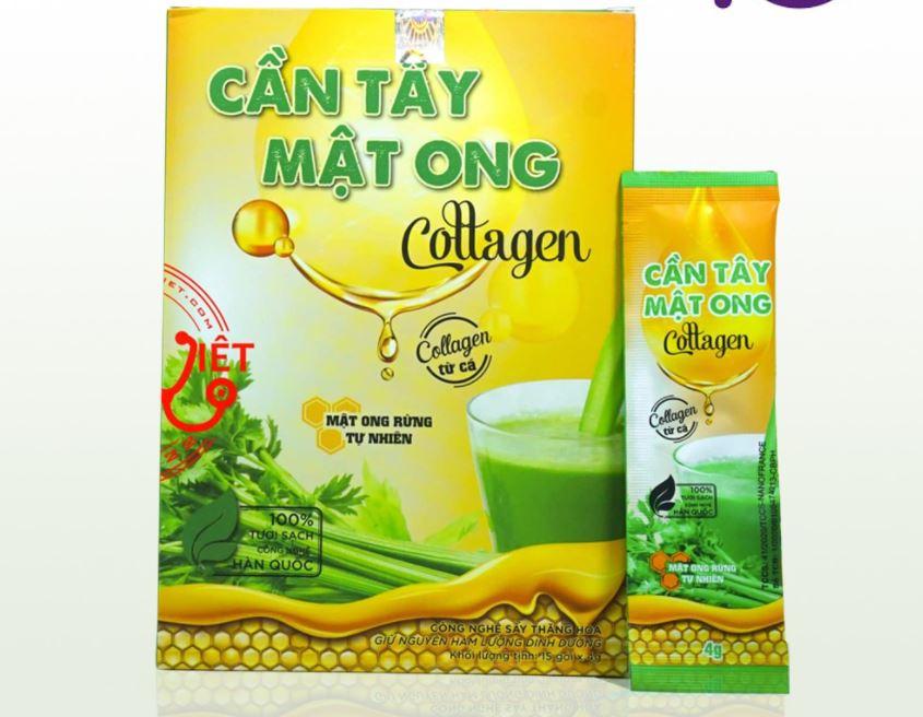 Bột cần tây mật ong Collagen