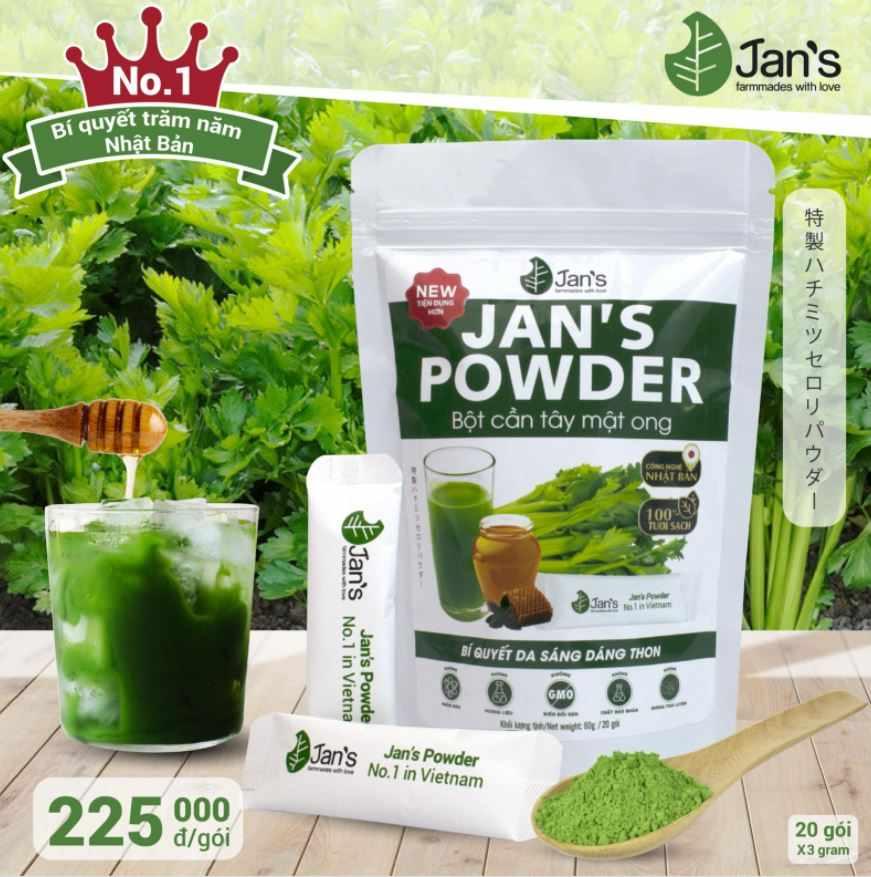 Bột cần tây mật ong Jan's Powder