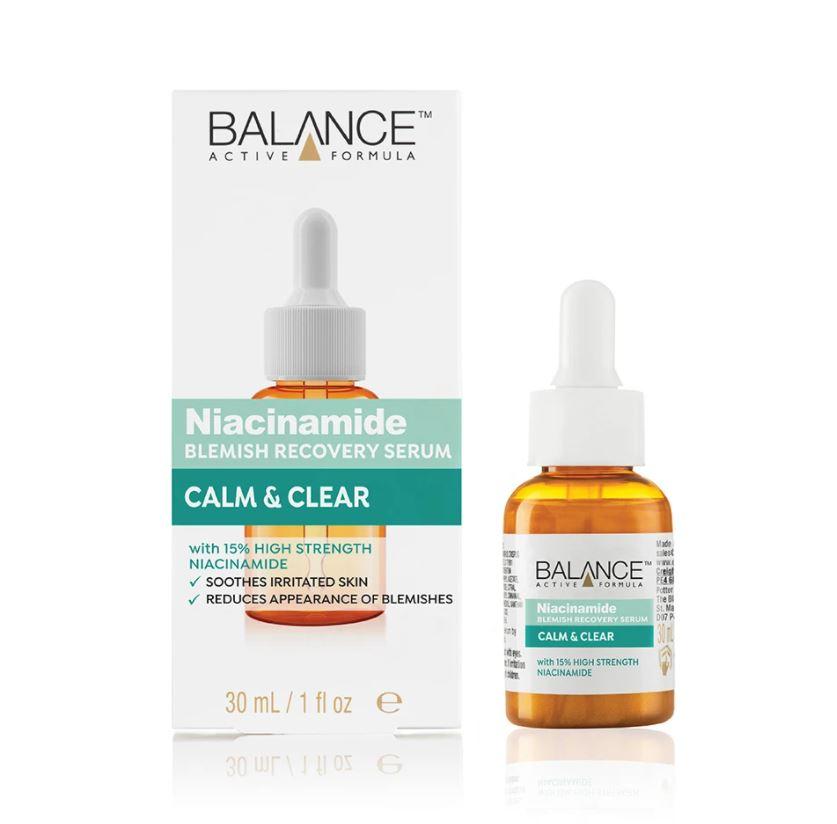 balance active skincare niacinamide blemish recovery serum