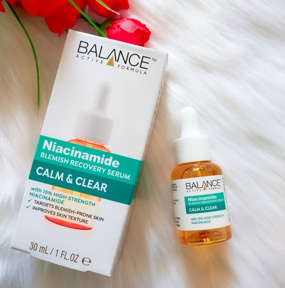 balance active skincare niacinamide blemish recovery serum 3