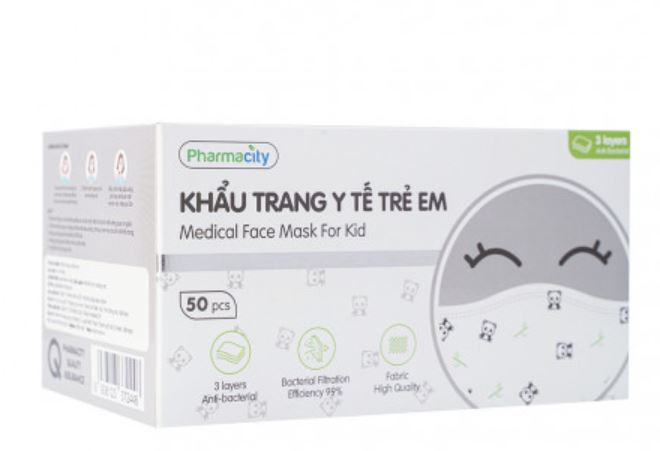 khẩu trang y tế trẻ em pharmacity