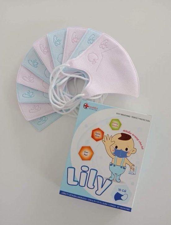 khẩu trang y tế trẻ em lily