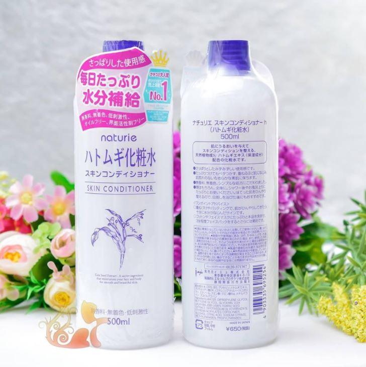 Nước hoa hồng Naturie Hatomugi Nhật Bản