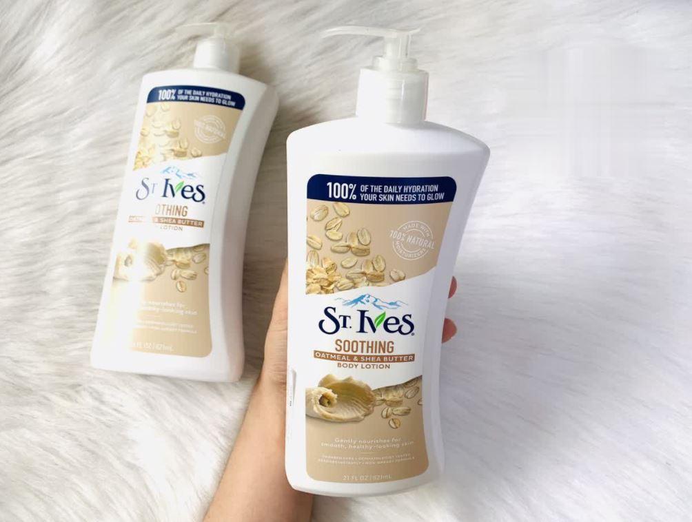 Sữa dưỡng thể ST.IVES Yến mạch và Bơ cấp ẩm tức thì