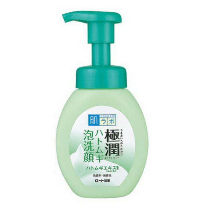 Hada Labo Gokujyun Hatomugi Bubble Face Wash