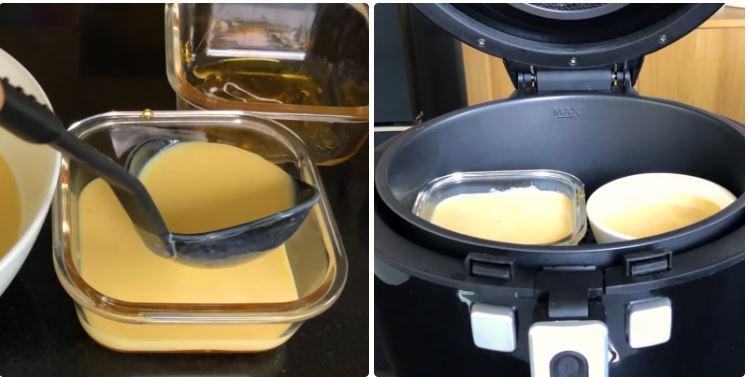 cách làm bánh Flan bằng nồi chiên không dầu 5