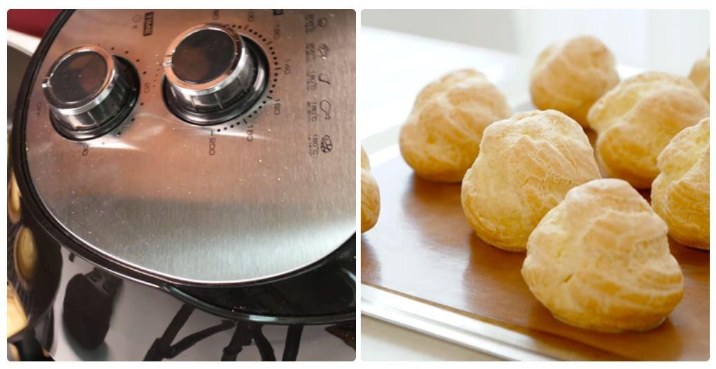 Cách làm bánh Su kem bằng nồi chiên không 4