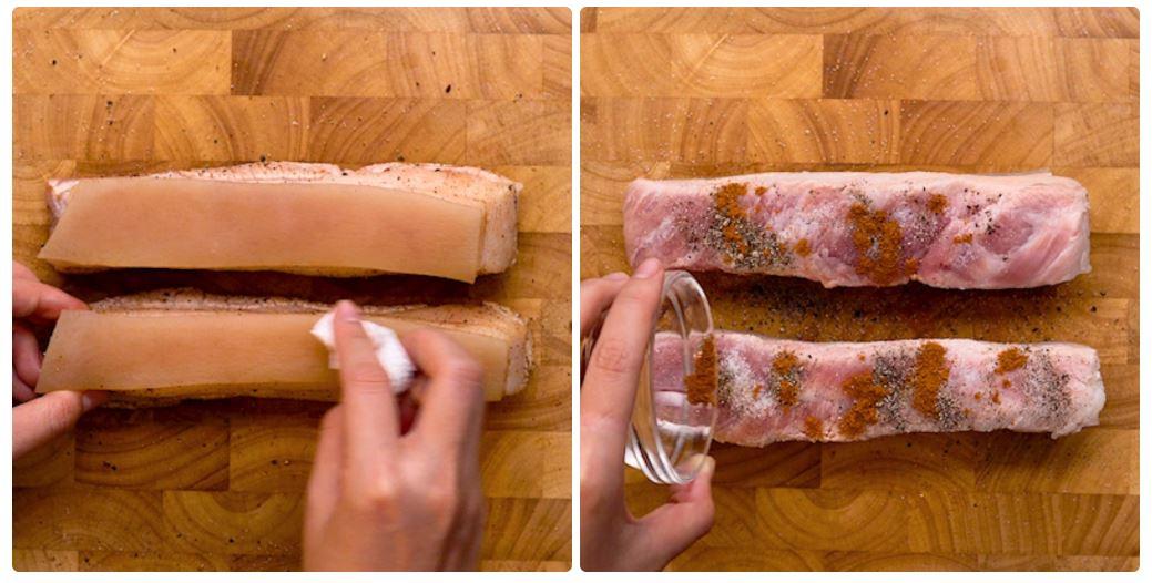 Cách làm heo quay bằng nồi chiên không dầu 3