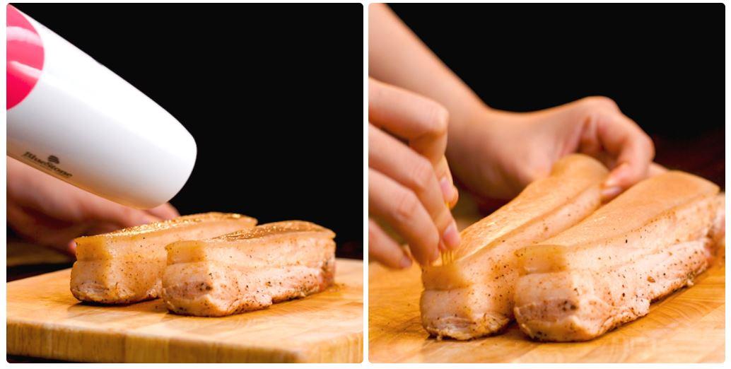 Cách làm heo quay bằng nồi chiên không dầu 4
