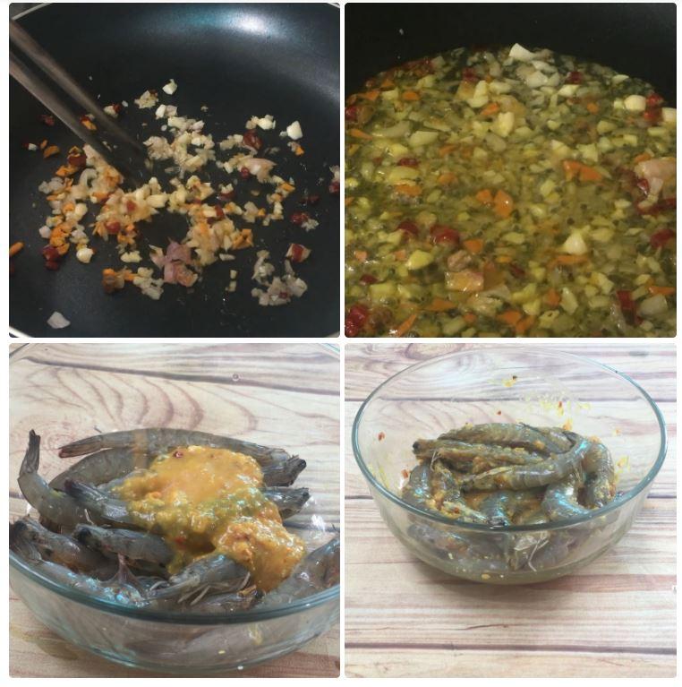 Cách nướng tôm bằng nồi chiên không dầu 11