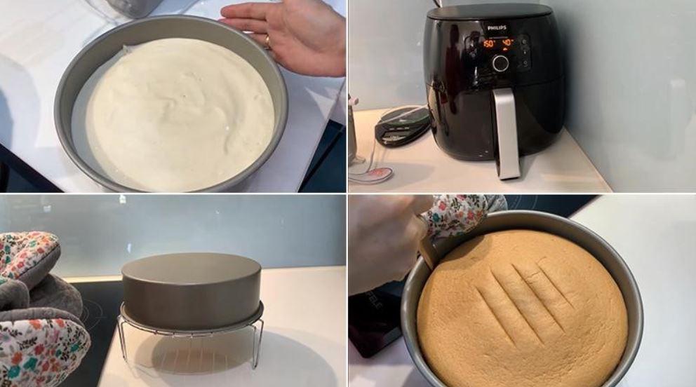 cách làm bánh Gato bằng nồi chiên không 7