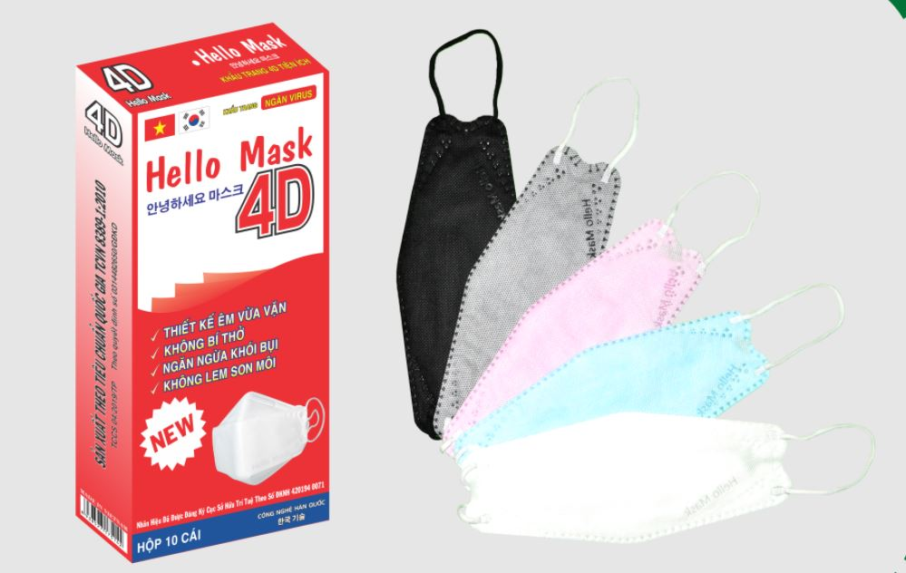 Khẩu trang 4D Hàn Quốc Hello Mask