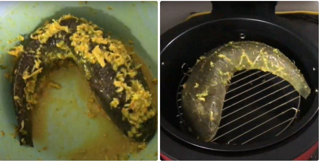 Hướng dẫn cách nướng cá bằng nồi chiên không dầu 10