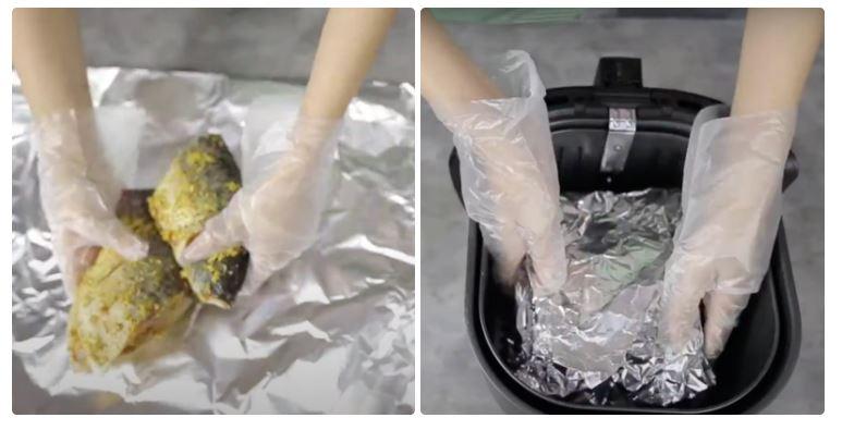 Hướng dẫn cách nướng cá bằng nồi chiên không dầu 23