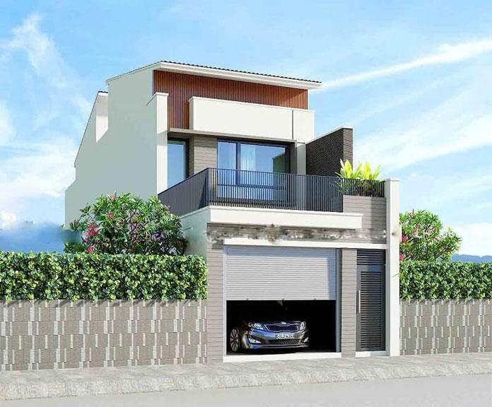 thiết kế nhà đẹp 2 tầng 5