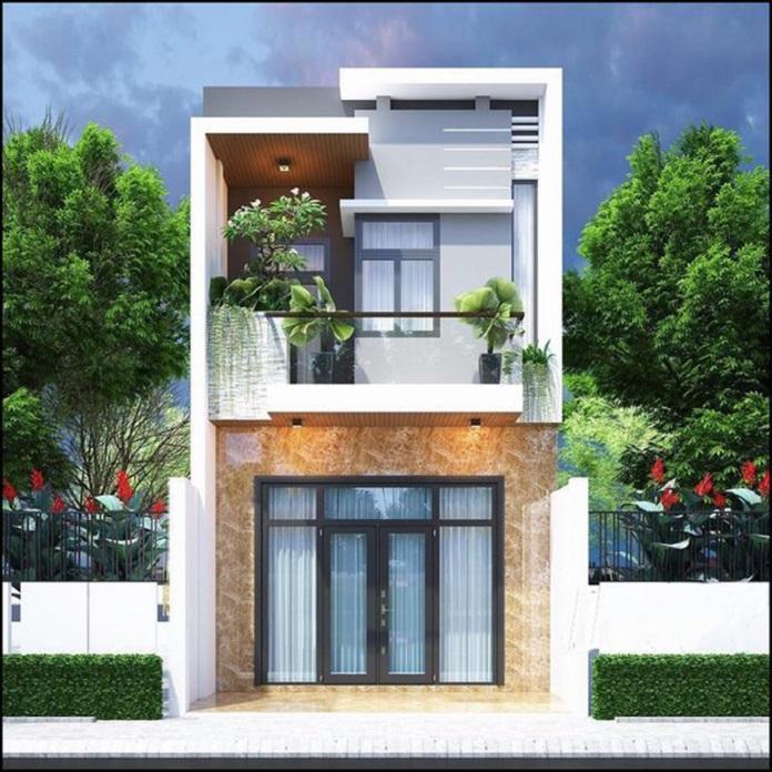 nhà đẹp 2 tầng 300 triệu 2