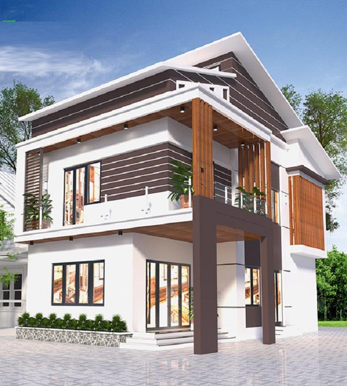 Nhà mái lệch 2 tầng 4