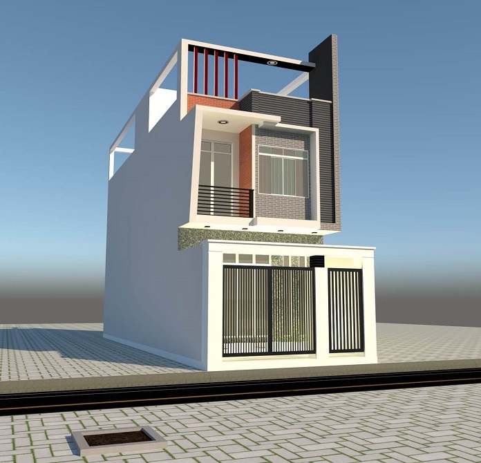 mẫu nhà 2 tầng 1 tum 3