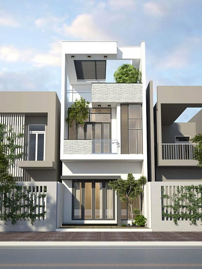 mẫu nhà 2 tầng 8 mét mặt tiền 4