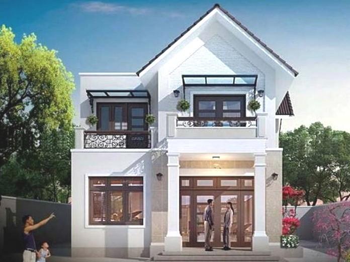 mẫu nhà 2 tầng đẹp giá 700 triệu 3