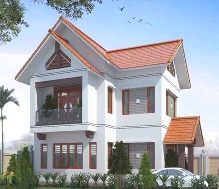 mẫu nhà 2 tầng đẹp giá 700 triệu 4