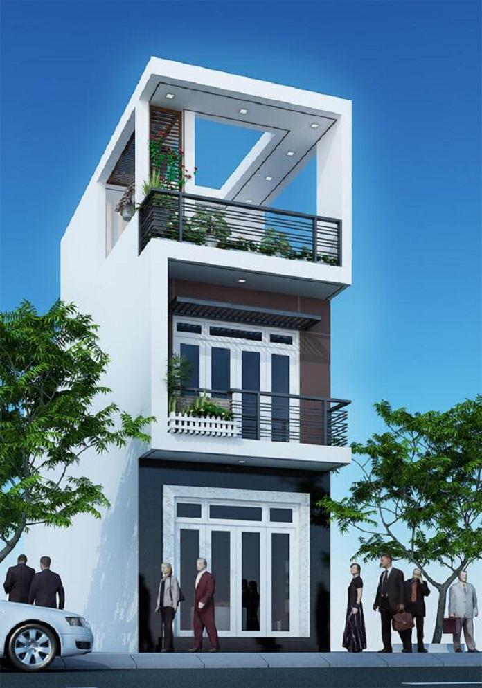 mẫu nhà 3 tầng đẹp 4