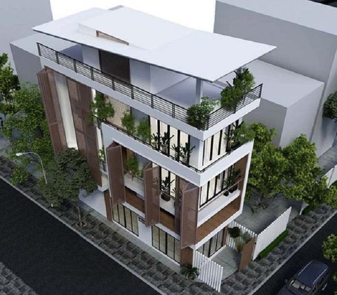 mẫu nhà 3 tầng đẹp hiện đại 2
