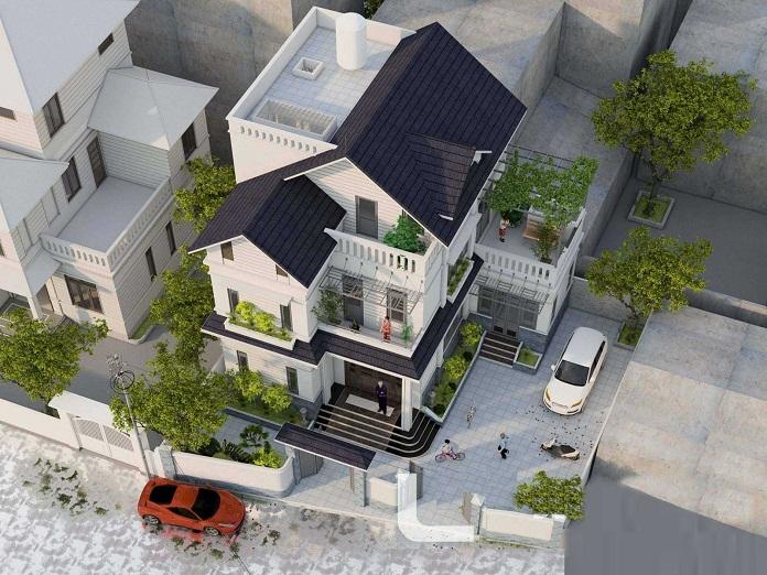 mẫu nhà 3 tầng đẹp hiện đại 4