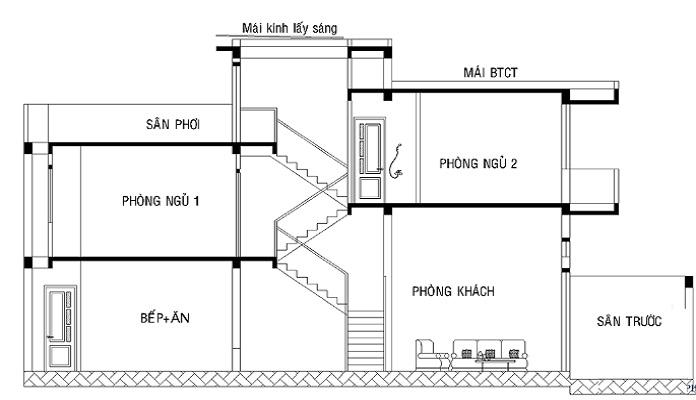 mẫu thiết kế nhà 2 tầng 6x15 3