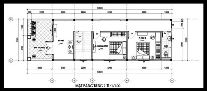 nhà 2 tầng 3 phòng ngủ 1