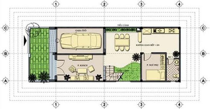 nhà 2 tầng 3 phòng ngủ 5
