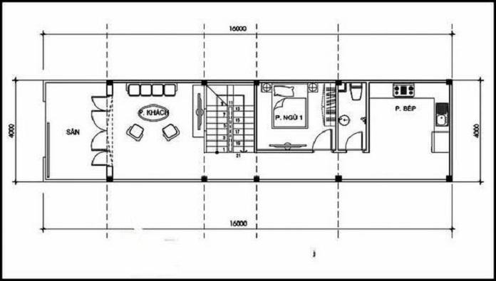 nhà 2 tầng 4 phòng ngủ 1 phòng thờ 10