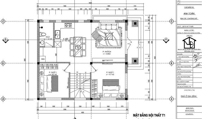 nhà 2 tầng 4 phòng ngủ 1 phòng thờ 2