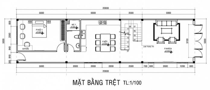 nhà 2 tầng 4 phòng ngủ 1 phòng thờ 9