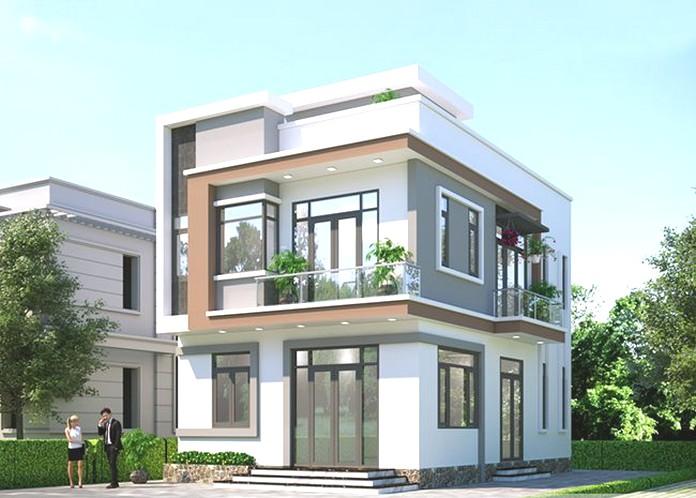 nhà 2 tầng hiện đại 4