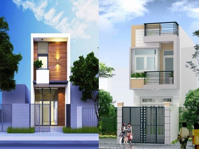 nhà 2 tầng mái bằng 2