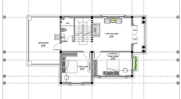 nhà 2 tầng mặt tiền 8m 4 phòng ngủ 5