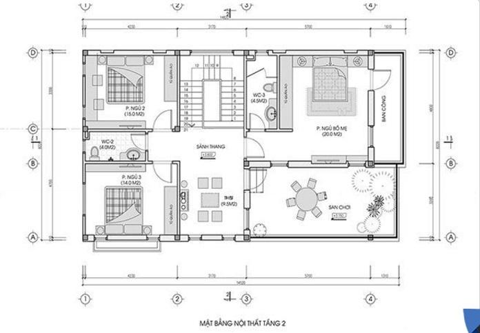 nhà 2 tầng mặt tiền 8m 4 phòng ngủ 7