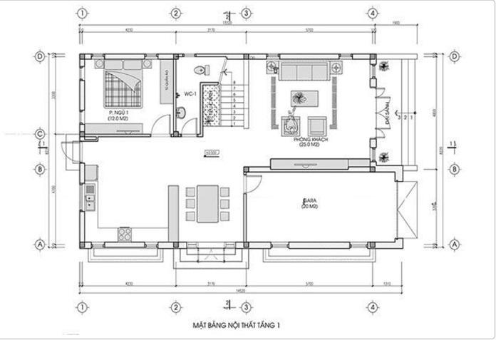 nhà 2 tầng mặt tiền 8m 4 phòng ngủ 8