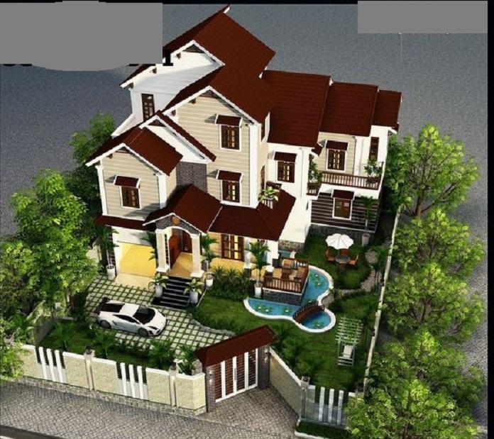 nhà 3 tầng 2 mặt tiền hiện đại 1
