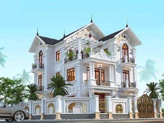 nhà 3 tầng 2 mặt tiền hiện đại 3