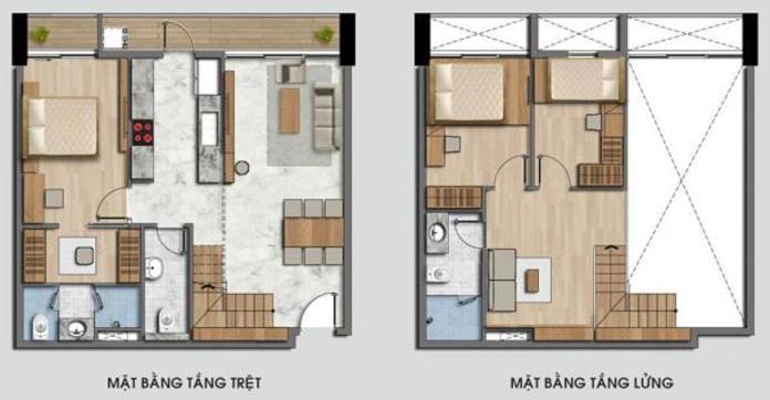 nhà gác lửng 3 phòng ngủ 1