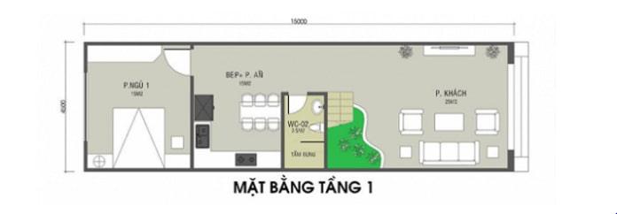 mẫu nhà ống 2 tầng mái Thái 3