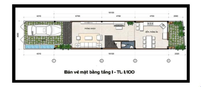 mẫu nhà ống 2 tầng mái Thái 4