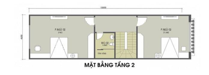 mẫu nhà ống 2 tầng mái Thái 5
