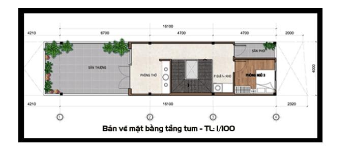 mẫu nhà ống 2 tầng mái Thái 6