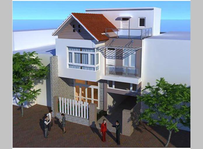 mẫu nhà ống 2 tầng mái Thái 7