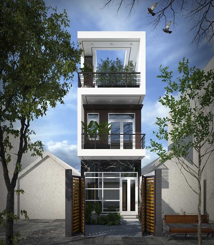 nhà phố 3 tầng hiện đại 1
